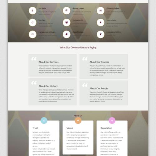 Choice Professional Management website circa 2017